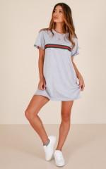 Stay Woke T-shirt dress in grey