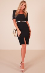 Late Meeting dress in navy
