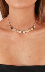Upside Down choker in gold