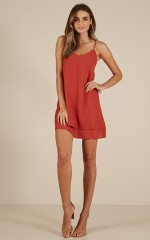 Go With It dress in red