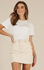 Just Peachy tee in white