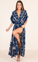 Vacay Ready maxi dress in navy floral