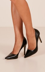 Verali - Harold Heels in black smooth