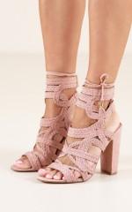 Verali - Jersey Heels in blush
