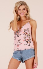 Walk This Way top in blush floral
