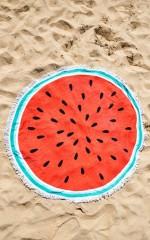 Watermelon towel in red print