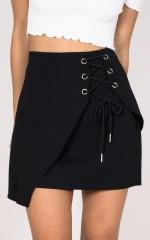 What We Do skirt in black