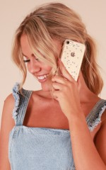 Win My Heart iPhone 8 cover in silver glitter