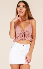 Young And Beautiful top in dusty pink