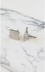 You Squared earrings in silver