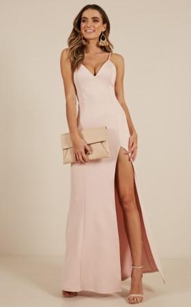 Dare To Dream Maxi Dress in Blush