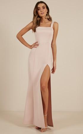 Guest List Maxi Dress in Blush
