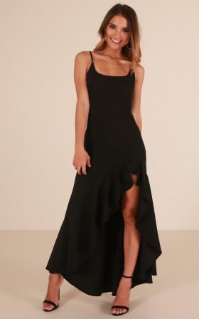 Dance Til Dawn maxi dress in black
