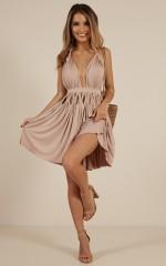 Too Hot To Handle dress in Mocha