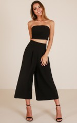 Self Control two piece set in black