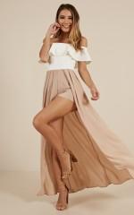 Skinny Love maxi playsuit in beige