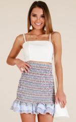 Like A Daydream skirt in blue stripe