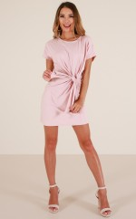 Cant Wait dress in blush