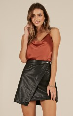 By Surprise skirt in black leatherette
