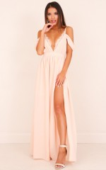 Sweet Moment maxi dress in blush