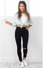 Naomi skinny jeans in black denim