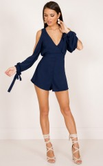 September Song playsuit in navy