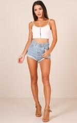 Ava Shorts in Mid Wash Denim