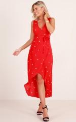 Board Room dress in red