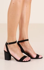 Billini - Carlina Heels in black suede