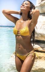 Bianca Bikini Top in Marigold