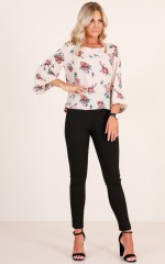 Dream Chaser top in beige floral