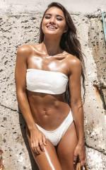 Mallory Bikini Top in Milk