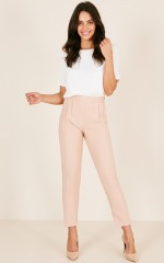 Focus On It pants in blush
