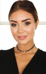 Heavy Metal choker in black and gold