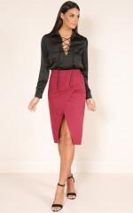 I Run This Skirt in wine