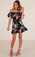 If Only You Knew dress in navy floral