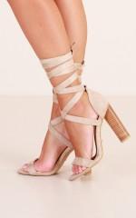 Billini - Limera Heels in stone micro