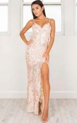 Spellbinding Maxi Dress in rose gold