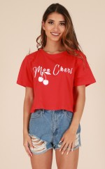 Mon Cheri t-shirt in red