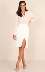 Mover And Shaker Skirt in White
