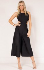 Out Dream Yourself jumpsuit in black