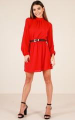 So Dreamy dress in red