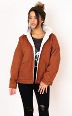 Stranger shearling jacket in tan