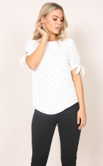 Sway top in white print