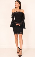 Sweet For You dress in black lace