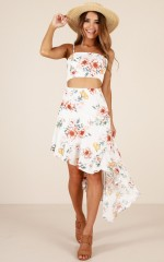 Sweet Sugar dress in white floral