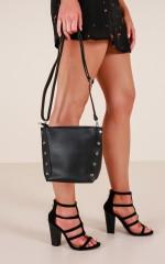 Taking Over bag in black