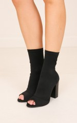 Therapy Shoes - Fiction in black lycra