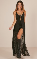 Till Morning Light Playsuit in Black