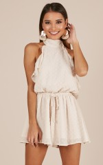 Time For You playsuit in beige